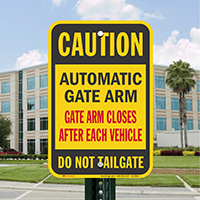 anti-tailgating sign